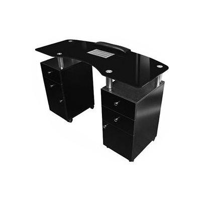 table de manucure noire 12 avec aspirateur. Black Bedroom Furniture Sets. Home Design Ideas