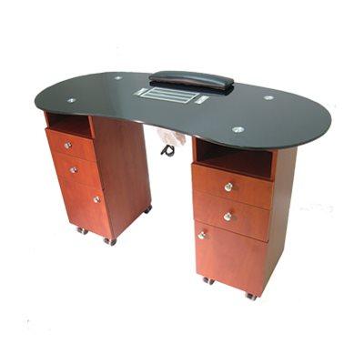 table de manucure 4 verre trempe noir. Black Bedroom Furniture Sets. Home Design Ideas