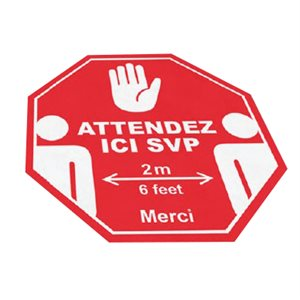 Floor Covid-19 Safety Stiker 12 x 12 inches -