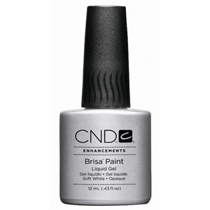 CND BRISA PAINT SOFT WHITE OPAQUE .43 oz (12ml)