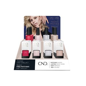 CND Shellac et Vinylux Pop Display Collection Night Moves -