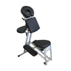 Chaise de Massage Noir Ergonomique -